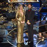 Margot Robbie y Jared Leto en la gala de los Premios Oscar 2016