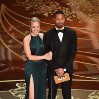Rachel McAdams y Michael B. Jordan en la gala de los Premios Oscar 2016