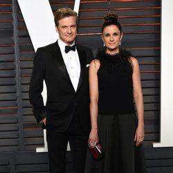 Colin Firth y Livia Giuggioli en la fiesta Vanity Fair tras los Oscar 2016