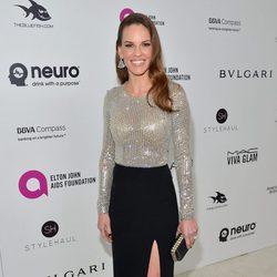 Hilary Swank en la fiesta de Elton John tras los Oscar 2016