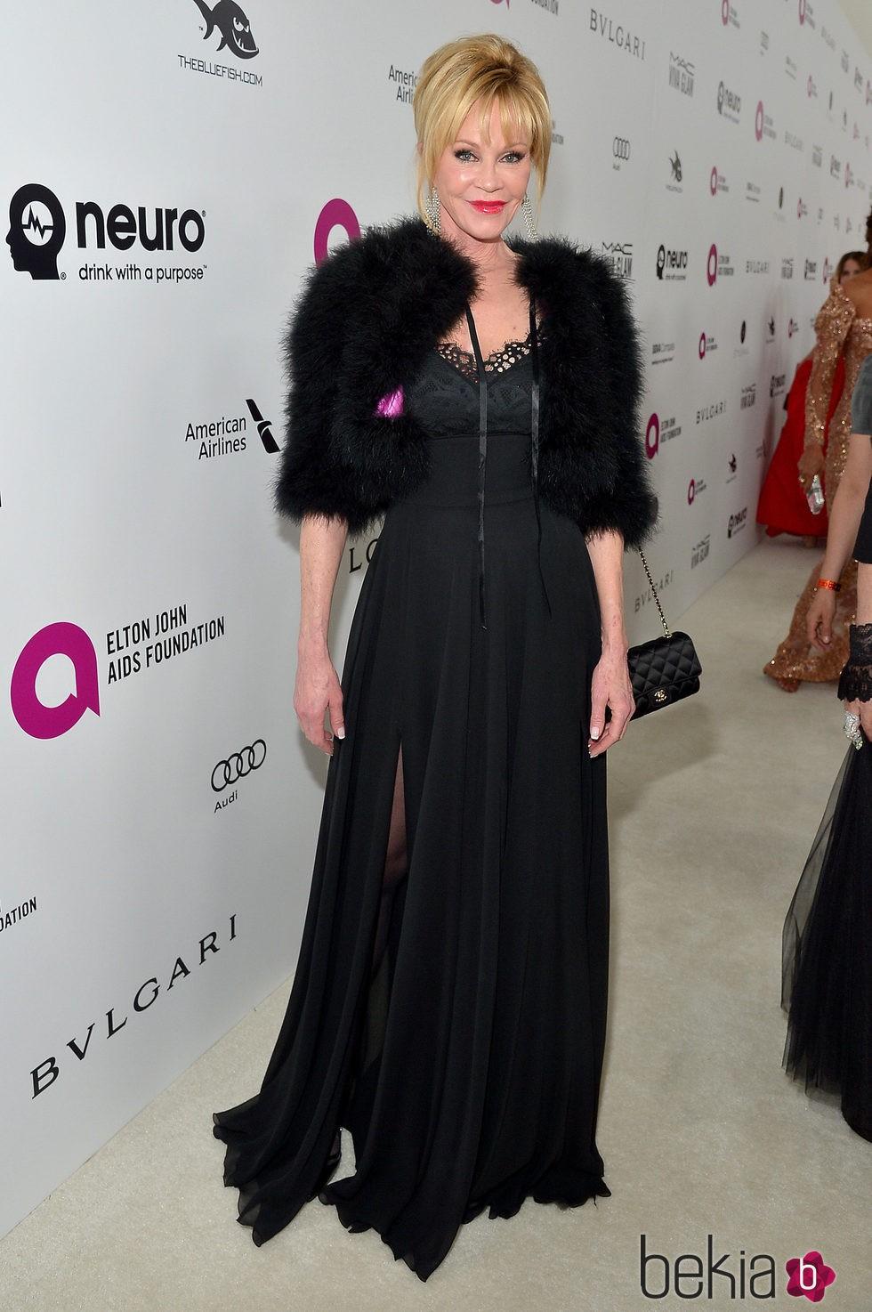 Melanie Griffith en la fiesta de Elton John tras los Oscar 2016