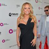 Mariah Carey en la fiesta de Elton John tras los Oscar 2016