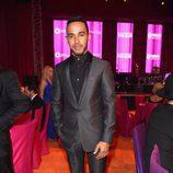 Lewis Hamilton en la fiesta de Elton John tras los Oscar 2016