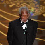 Morgan Freeman durante la ceremonia de los Premios Oscar 2016