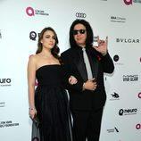Sophie y Gene Simmons en la fiesta de Elton John tras los Oscar 2016