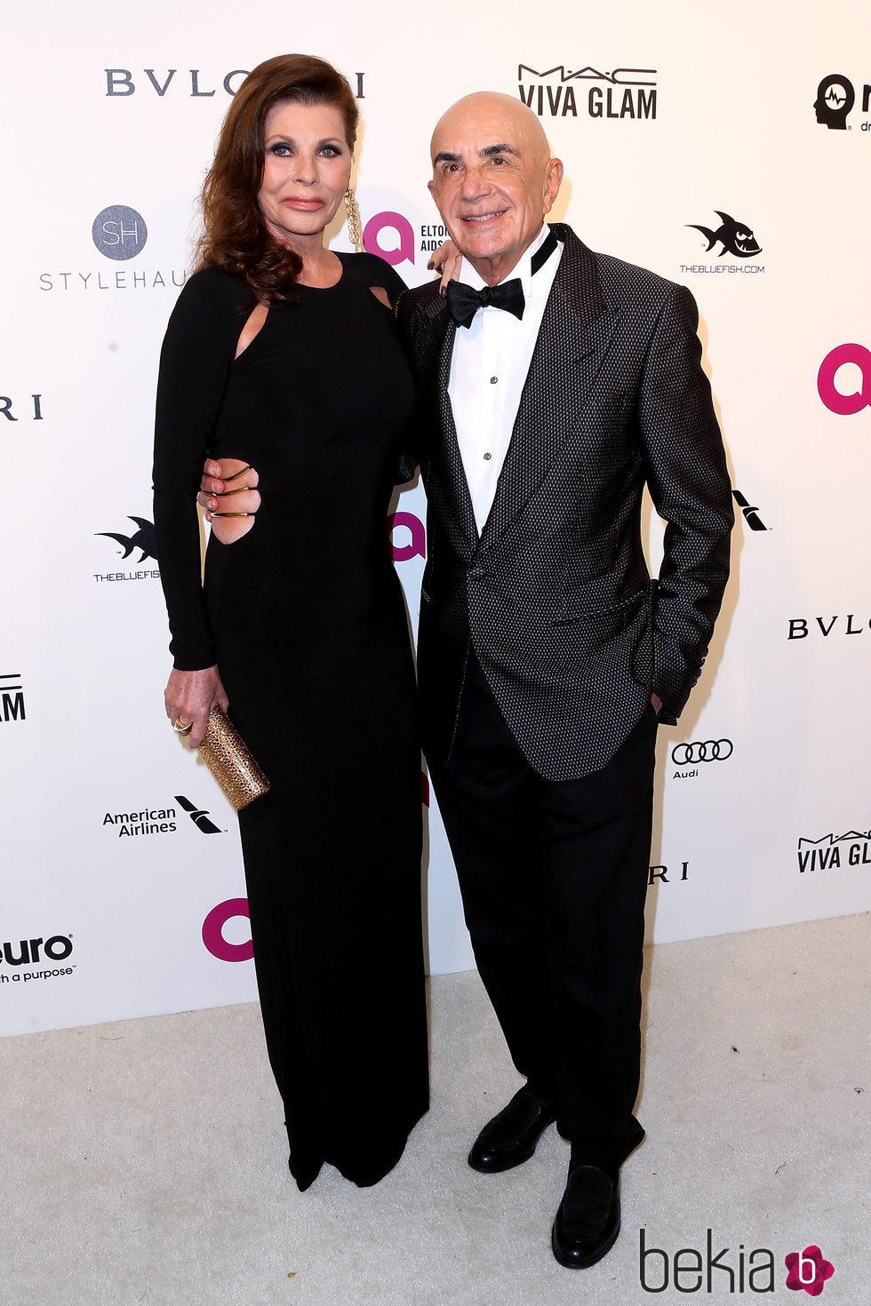 Roberto Saphiro en la fiesta de Elton John tras los Oscar 2016