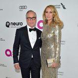 Tommy Hilfiger y Dee Ocleppo en la fiesta de Elton John tras los Oscar 2016