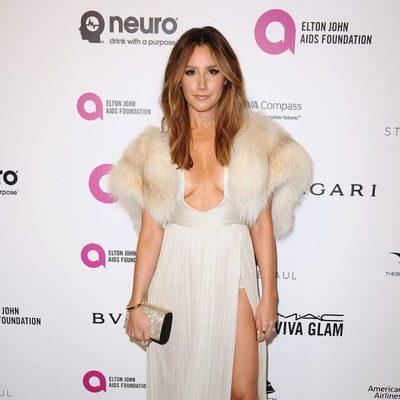 Ashley Tisdale en la fiesta de Elton John tras los Oscar 2016