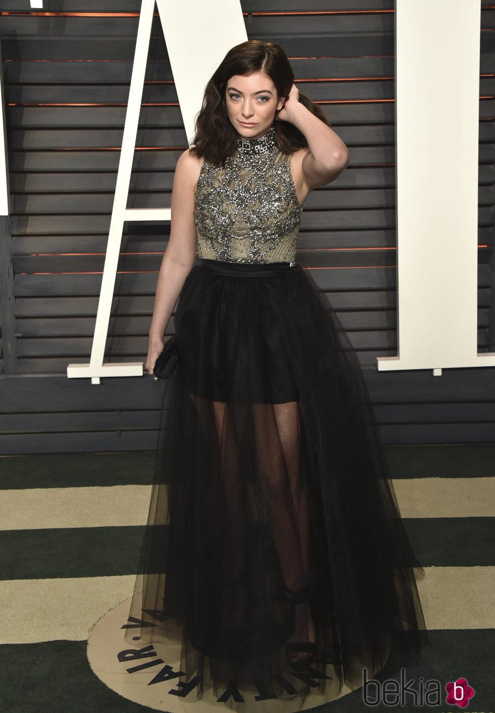 Lorde en la fiesta de Vanity Fair tras los Oscar 2016
