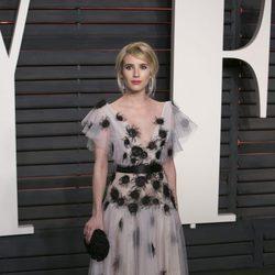 Emma Roberts en la fiesta de Vanity Fair tras los Oscar 2016