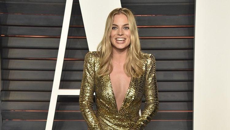 Margot Robbie en la fiesta de Vanity Fair tras los Oscar 2016