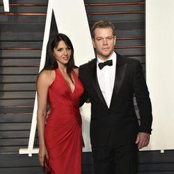 Matt Damon en la fiesta de Vanity Fair tras los Oscar 2016