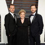 Hermanos Evans en la fiesta de Vanity Fair tras los Oscar 2016