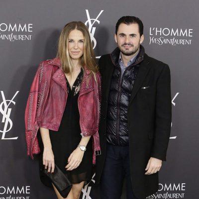 Emiliano Suarez y Carola Baleztena  en el aniversario del perfume 'L'Homme' de Yves Saint Laurent en Madrid