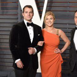 Henry Cavill y Tara King en la fiesta Vanity Fair tras los Oscar 2016