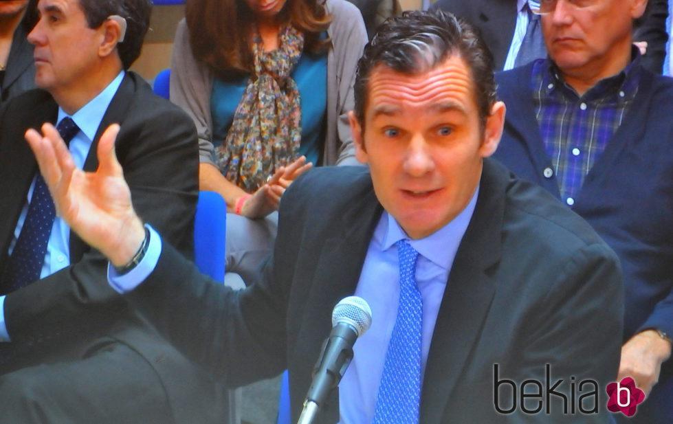 Iñaki Urdangarín declara en la decimotercera sesión del juicio por el Caso Nóos