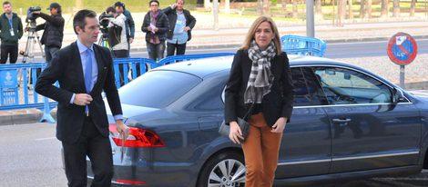 La Infanta Cristina e iñaki Urdangarín en la sesión en la que ambos declararon en el juicio por el Caso Nóos