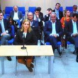 Los acusados atienden a la declaración de la Infanta Cristina en el juicio por el Caso Nóos