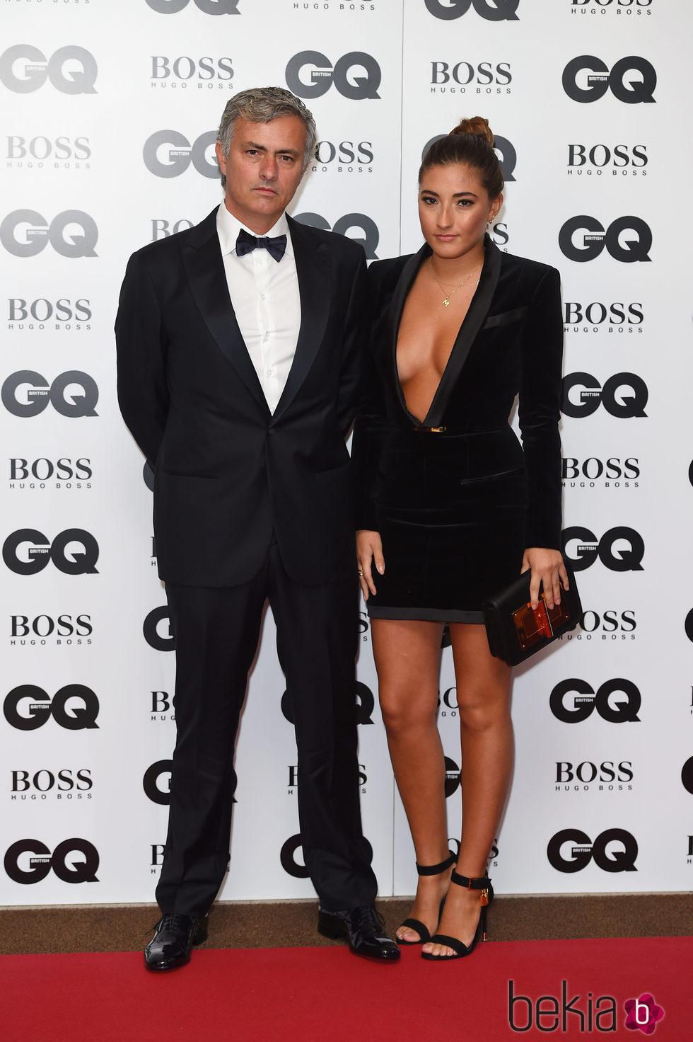 José Mourinho junto a su hija Matilde en los premios GQ británicos