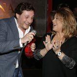 Juan Peña con Terelu Campos en la fiesta de su 36 cumpleaños