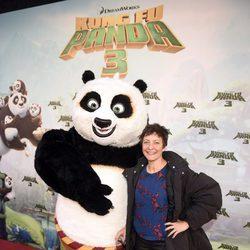 Eva Hache en el estreno de 'Kung Fu Panda 3' en Madrid