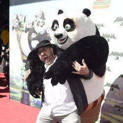 Florentino Fernández en el estreno de 'Kung Fu Panda 3' en Madrid