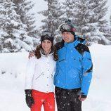 El Príncipe Guillermo y Kate Middleton en la nieve en los Alpes