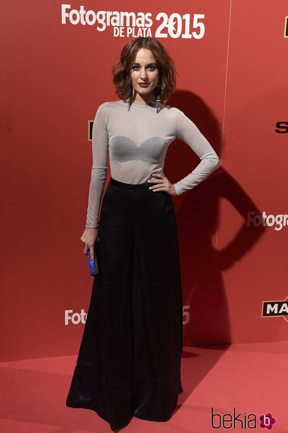 Silvia Alonso en la alfombra roja de los Fotogramas de Plata 2015