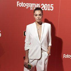 Ana Rujas en la alfombra roja de los Fotogramas de Plata 2015