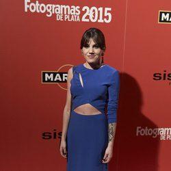 Angy en la alfombra roja de los Fotogramas de Plata 2015