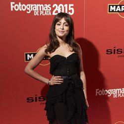 Hiba Abouk en la alfombra roja de los Fotogramas de Plata 2015