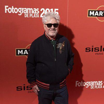 Pedro Almodóvar en la alfombra roja de los Fotogramas de Plata 2015