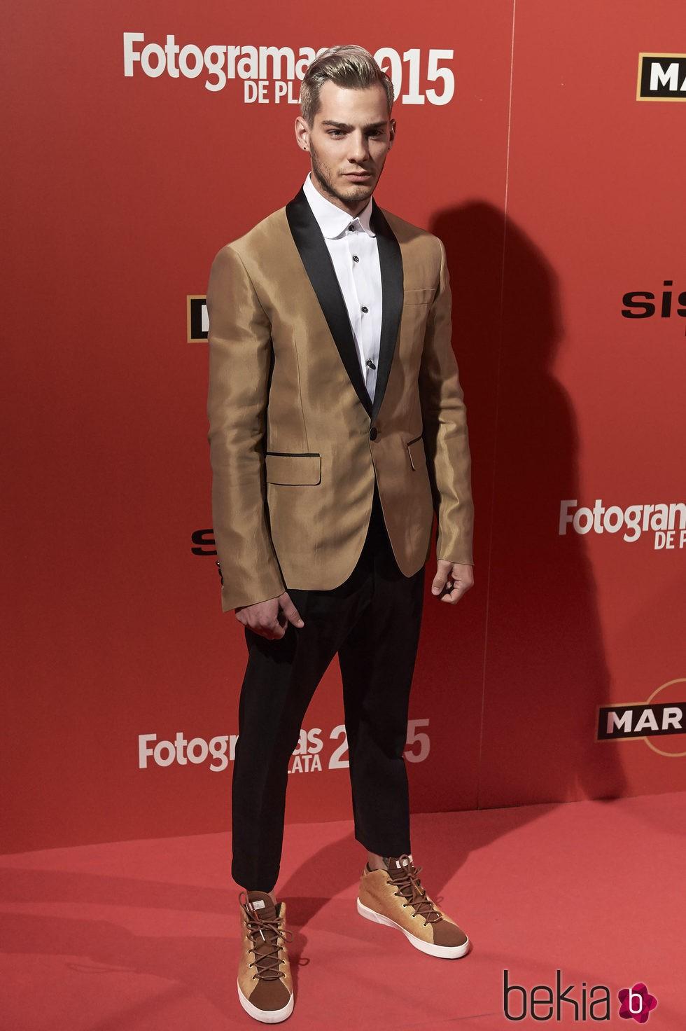 Joel Bosqued en la alfombra roja de los Fotogramas de Plata 2015