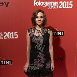 Aura Garrido en la alfombra roja de los Fotogramas de Plata 2015