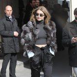 Gigi Hadid en el desfile de Chanel en Paris Fashion Week otoño/invierno 2016/2017