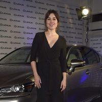 Adriana Ugarte en la presentación de un nuevo coche de alta gama en Madrid