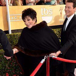 Liza Minelli en la alfombra roja de los Premios del Sindicato de Actores