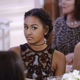 Sasha Obama en la cena de gala ofrecida en la Casa Blanca al Primer Ministro de Canadá