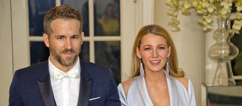 Ryan Reynolds y Blake Lively en la cena de gala ofrecida en la Casa Blanca al Primer Ministro de Canadá