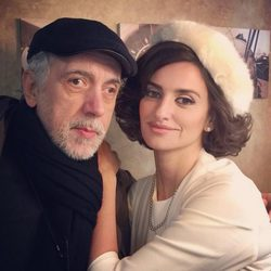 Fernando Trueba y Penélope Cruz en el rodaje de 'La Reina de España'