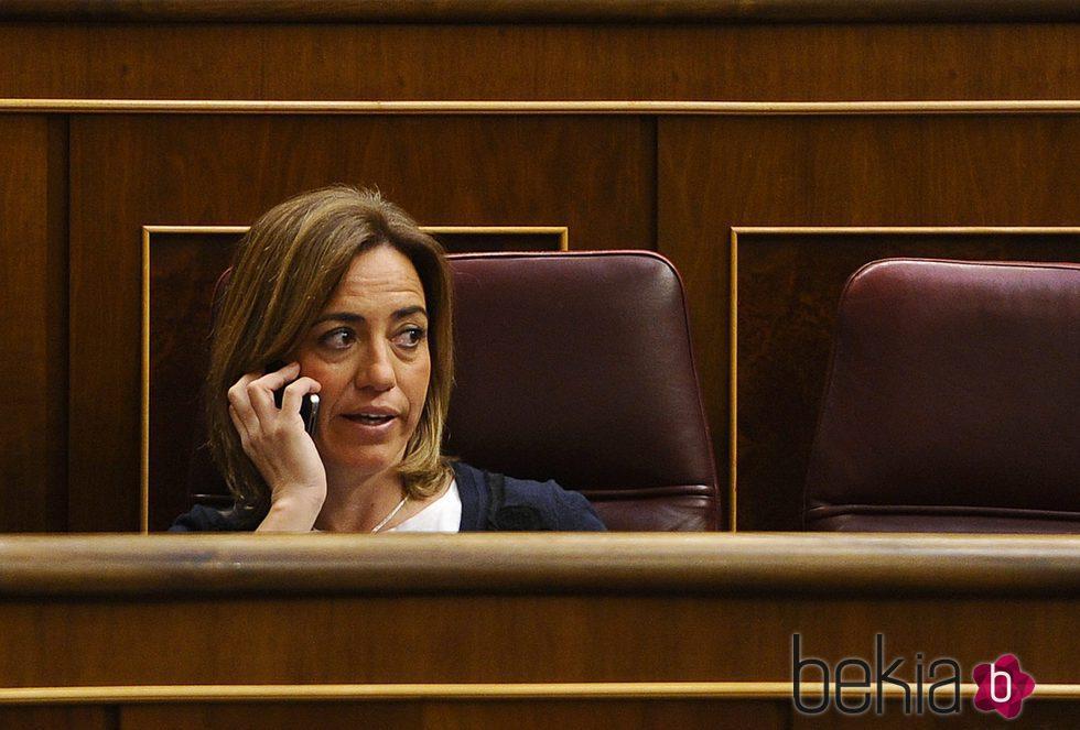 Carme Chacón en el Congreso de los Diputados
