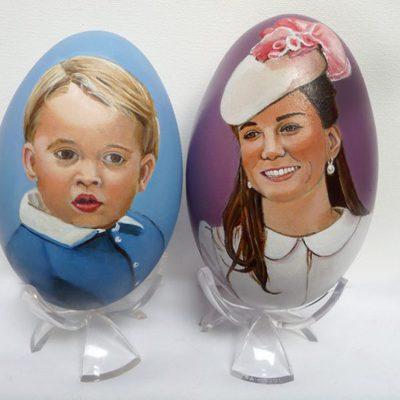 Huevos de Pascua de Kate Middleton y el Príncipe Jorge de Cambridge