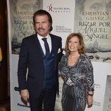 Bigote Arrocet y María Teresa Campos en la presentación del libro 'Reza por Miguel Ángel'