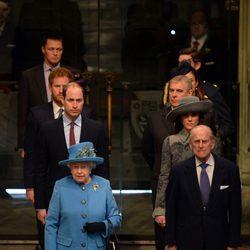 La Familia Real Británica celebra el Día de la Commonweath con una misa