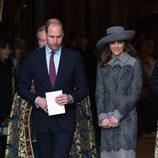 Los Duques de Cambridge en la misa por el Día de la Commonweath 2016