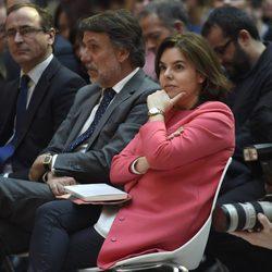 Soraya Sáenz de Santamaría en la presentación del libro 'Preso pero libre' en Madrid