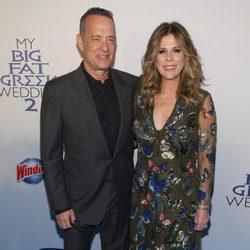 Tom Hanks y Rita Wilson en el estreno de 'Mi gran boda griega 2' en Nueva York