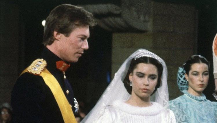 Enrique y María Teresa de Luxemburgo el día de su boda
