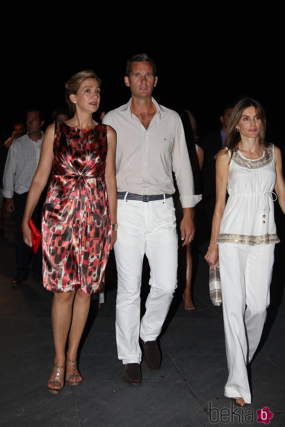 La Infanta Cristina, Iñaki Urdangarín y la Reina Letizia