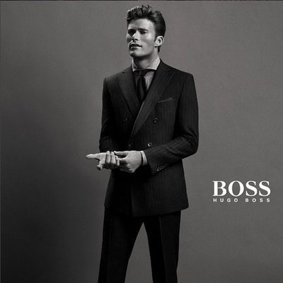Scott Eastwood protagonizando una campaña de Hugo Boss